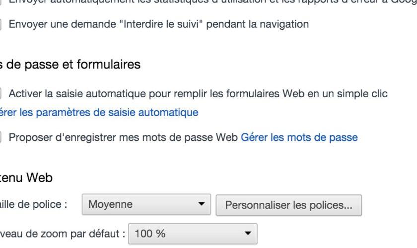 Gérer les mots de passe dans Google Chrome