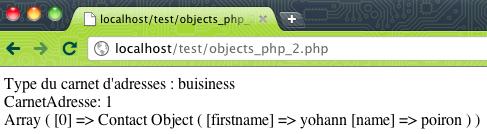 Compréhension des objets avec PHP 5 : Encapsulation, Héritage, Polymorphisme - Partie 2 - Ajout et affichage des personnes