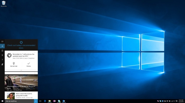 Cortana va vous rappeler de donner suite à vos engagements par e-mails