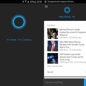 Cortana peut maintenant remplacer Google Now sur Android