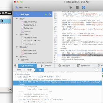 Déboguer les applications Chrome ou Safari depuis Firefox avec WebIDE