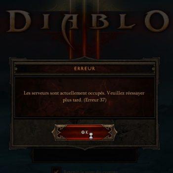 Diablo III, les erreurs 37 continuent toujours et encore…