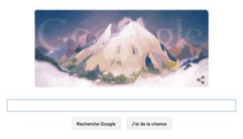 La première ascension du mont Blanc en doodle