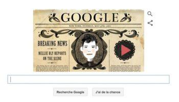 151e anniversaire de la naissance de Nellie Bly en doodle