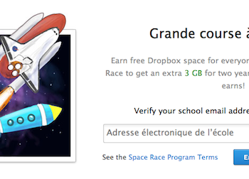 Dropbox Space Race : jusqu