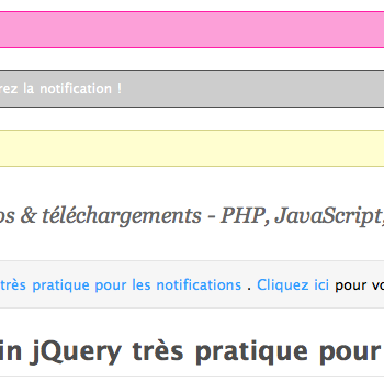 Easy Notification un plugin jQuery très pratique pour les notifications – Notification
