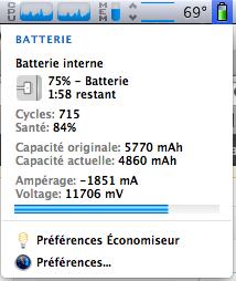 Est-ce que Mountain Lion diminuerait la durée de vie de votre batterie ?