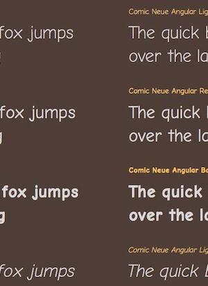 Comic Neue et Comic Neue Angular