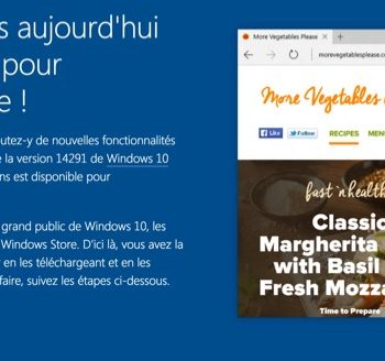 La dernière preview de Windows 10 apporte les extensions à Microsoft Edge