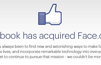 Facebook acquiert Face.com et sa technologie de reconnaissance faciale – Face.com affiche un message de rachat sur son site