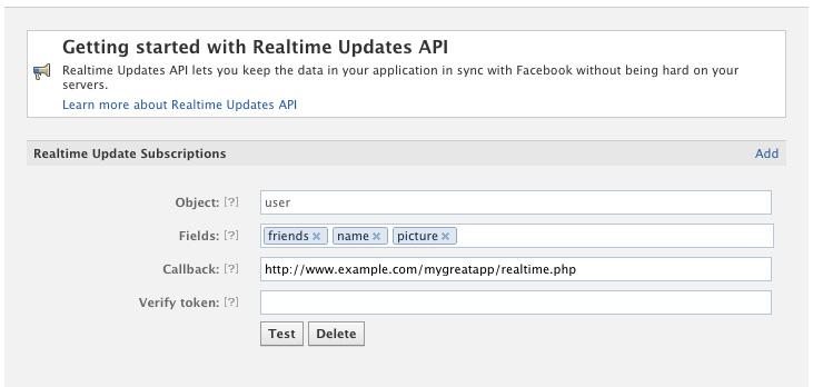 application facebook mise a jour