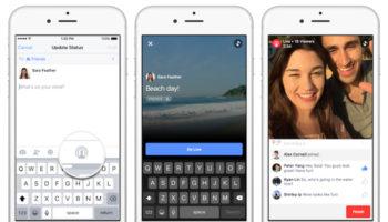 Facebook développe une application Camera autonome pour booster la diffusion en direct