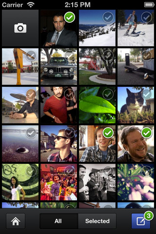 Facebook lance (enfin) son application photo pour iOS - Affichage en grille des photos des amis