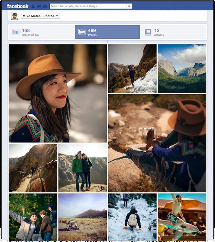 Facebook lance une nouvelle section pour les photos dans la timeline