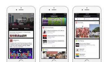 Facebook a utilisé Lollapalooza pour tester une fonctionnalité de live streaming