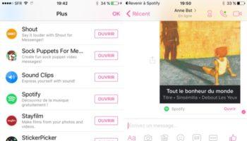 Facebook Messenger et Spotify font équipe pour partager la musique plus facilement
