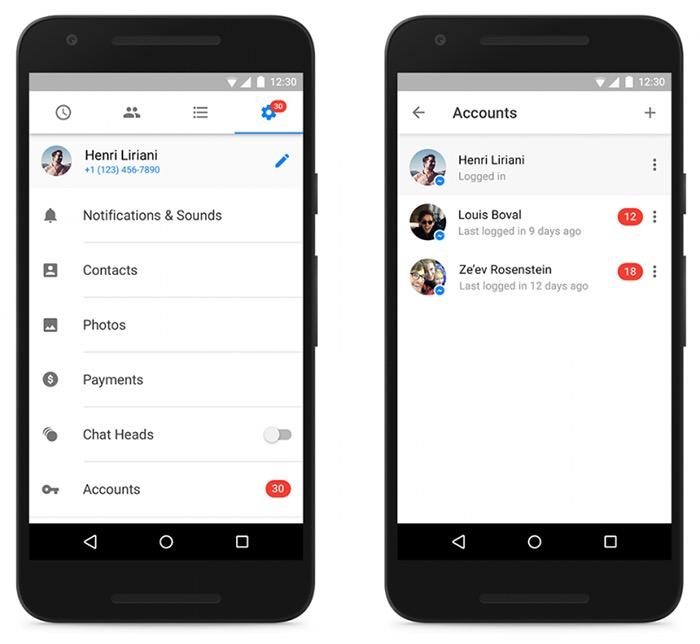 Facebook Messenger prend désormais en charge plusieurs comptes sur Android