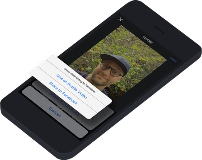 Facebook permet d'animer votre profil avec des vidéos provenant de Vine, Boomerang, et plus