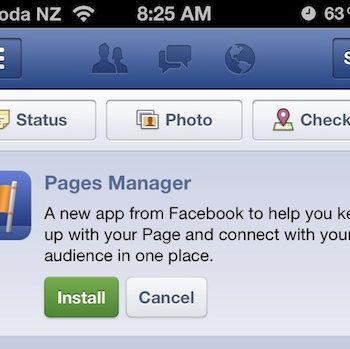 Facebook publie Pages Manager, une application dédiée aux marques et aux pages de fans – Installation de Pages Manager