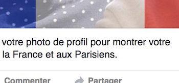 Facebook vous permet de soutenir Paris dans votre photo de profil en un seul clic