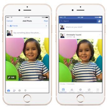 Facebook vous permet de partager des Live Photos de votre iPhone 6s sur iOS