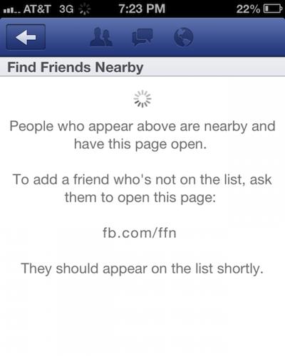 Facebook supprime Rechercher des amis à proximité car ce n