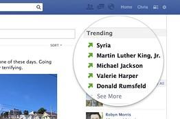 Facebook teste actuellement les sujets tendances, similaires au trending topics de Twitter