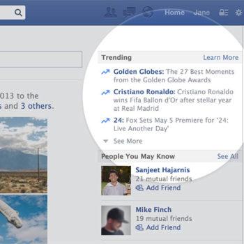 Facebook va également pousser ses sujets tendances, comme sur Twitter
