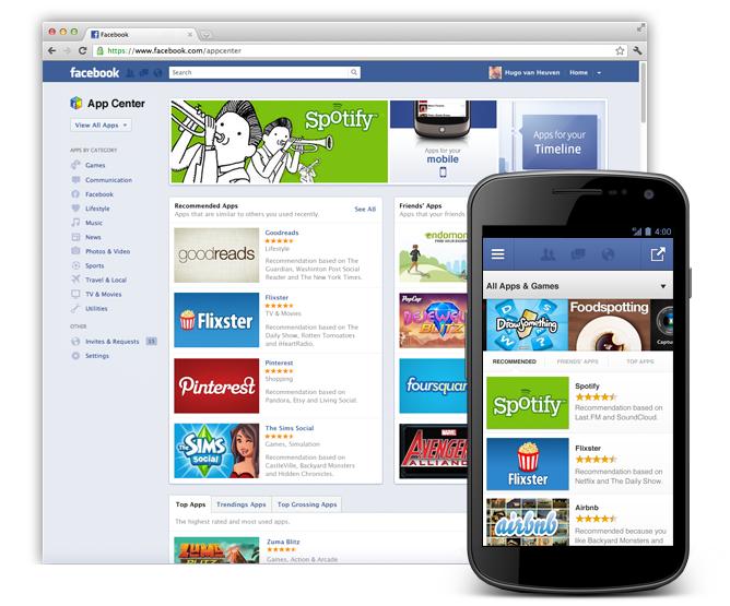 Facebook va lancer son App Center pour lister ses meilleures applications