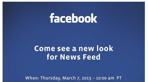 Facebook va tenir un évènement dédié à la refonte de son flux d