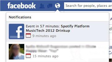 Facebook va vous notifier une heure avant que vos événements ne commencent