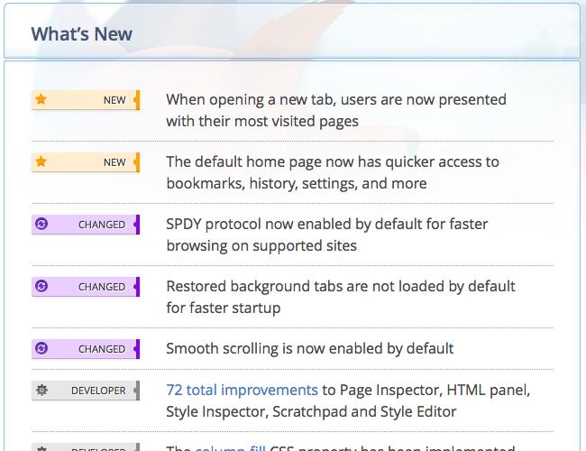 Firefox 13 bêta ajoute certaines mises à jour tant attendues – Liste mises à jour