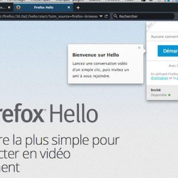 Firefox Hello – lancement du système