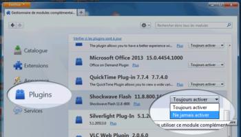 Firefox pourrait bientôt bloquer les plugins par défaut