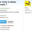 Autorisation de Vizify pour Twitter