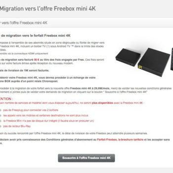 Migration Free vers Freebox Mini 4K