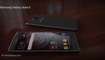 Concept du Galaxy Note 5