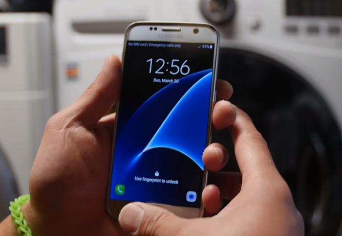 Le Galaxy S7 sort indemne après avoir passé 45 minutes dans une machine à laver