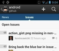 Github sur Android vous permet de garder un oeil sur tous vos projets depuis votre mobile – Issues