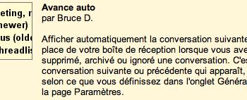 Activation de Auto-avant de Gmail