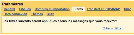 Pour un compte Gmail, plusieurs adresses mail disponibles – Créer un filtre