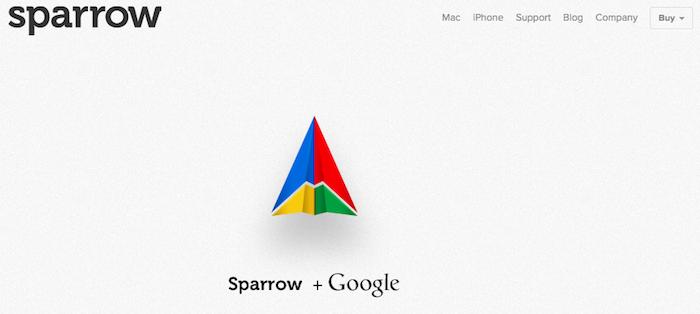 Google acquiert Sparrow dans le but de renforcer sa présence sur iOS et OS X