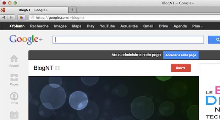 Google+ autorise désormais les URL personnalisées