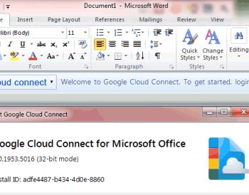 Désormais synchroniser Google Docs avec Microsoft Office – Ajout du plugin dans Microsoft Office