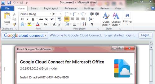 Désormais synchroniser Google Docs avec Microsoft Office - Ajout du plugin dans Microsoft Office