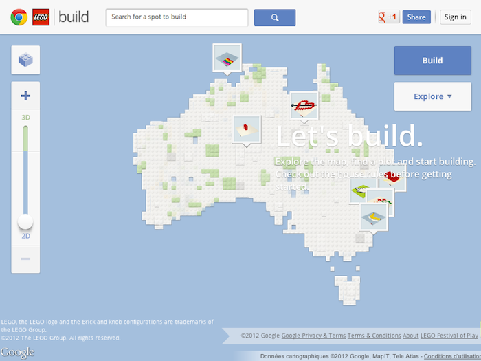 Google développe un site composé de 8 mille milliards de LEGO - Hommage de Google pour le 50ème anniversaire de LEGO