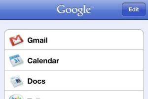 Google Apps sur iPhone