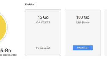 Google Drive : un gros régime sur le prix du stockage, 100 Go pour 2€ par mois