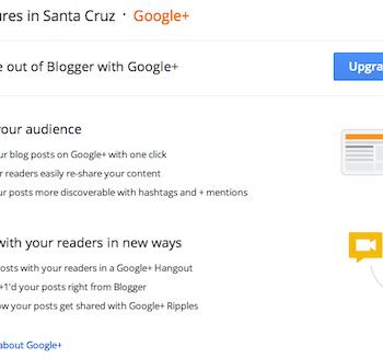 Google intègre enfin Google+ au sein de Blogger – Lien entre votre blog et votre profil Google+
