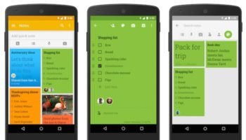 Google Keep sur mobile